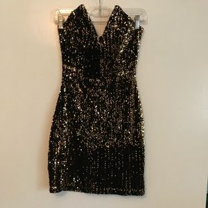 Sequin Mini Dress with Stretch